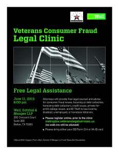 Veterans Consumer Fraud Flyer June 2015
