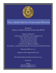 Texas Armed Forces Scholarship 4