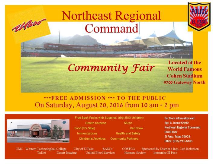 Community Fair Flyer 2016