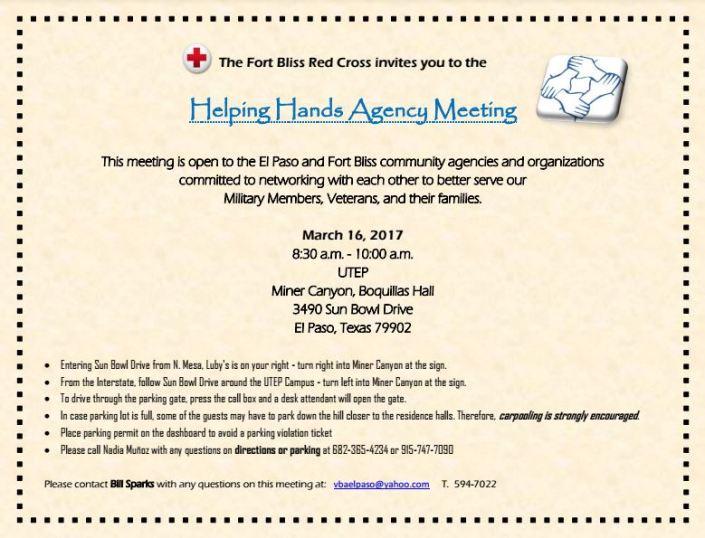 Helping Hands Agency Meeting