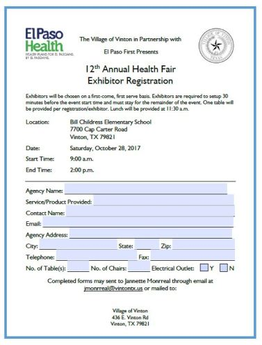 VintonHealthFairRegistration